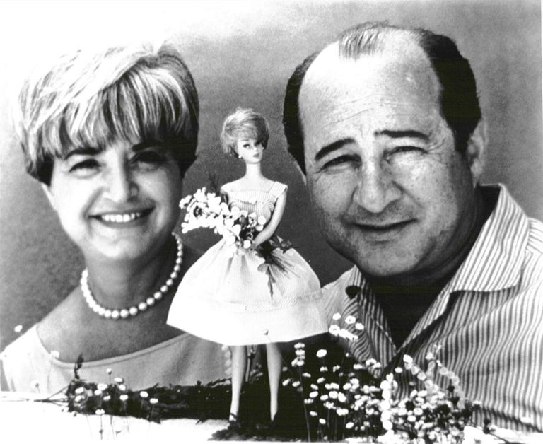Mattell Founders - Ruth and Elliott Handler With Barber Doll