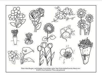 Único Diseño De Flores Para Colorear Composición - Páginas Para ...
