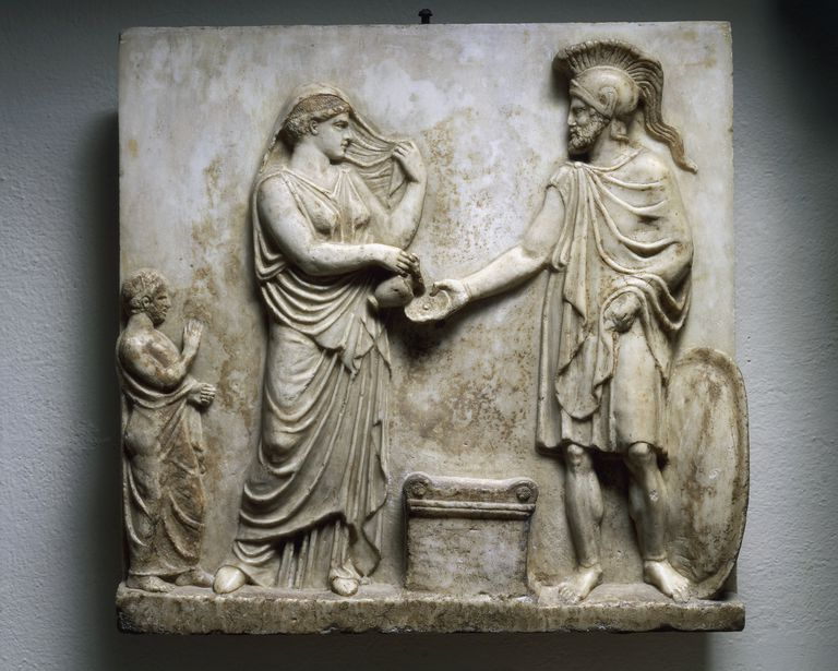 Votive relief with Ares and Aphrodite