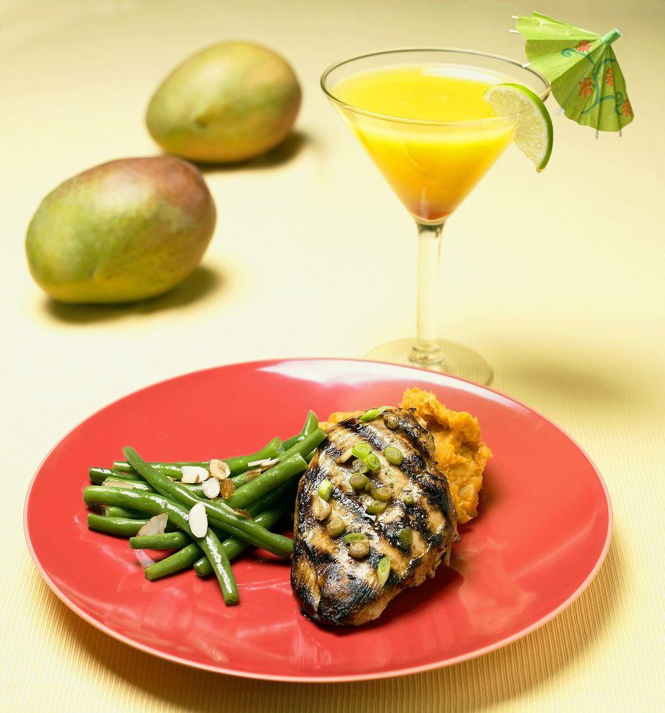 Mango Stuffed Chicken Breast