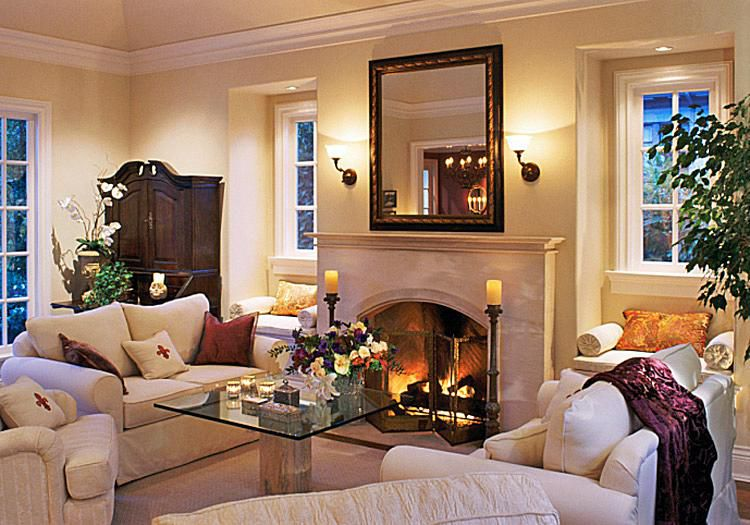 classic traditional style living room ideas - Decorating Ideas For Living Room With Fireplace