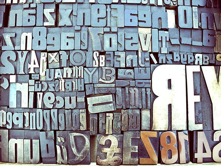 Close-Up Of Block Shape Alphabets