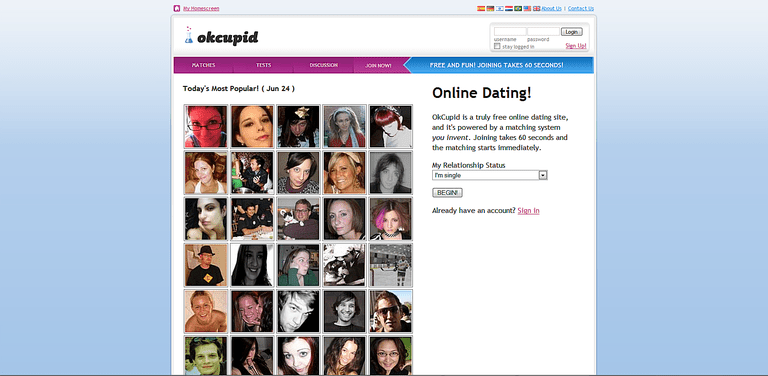 OkCupid is a free online dating site with a bit of a twist; your profile is  matched up via a personality testing process that ensures you are matched  with ...