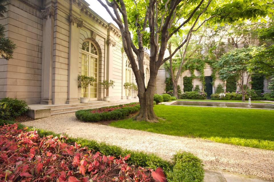 The Frick Collection courtyard garden.
