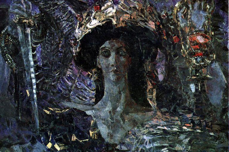 Six-winged Seraph (Azrael) by Mikhail Vrubel (1904).