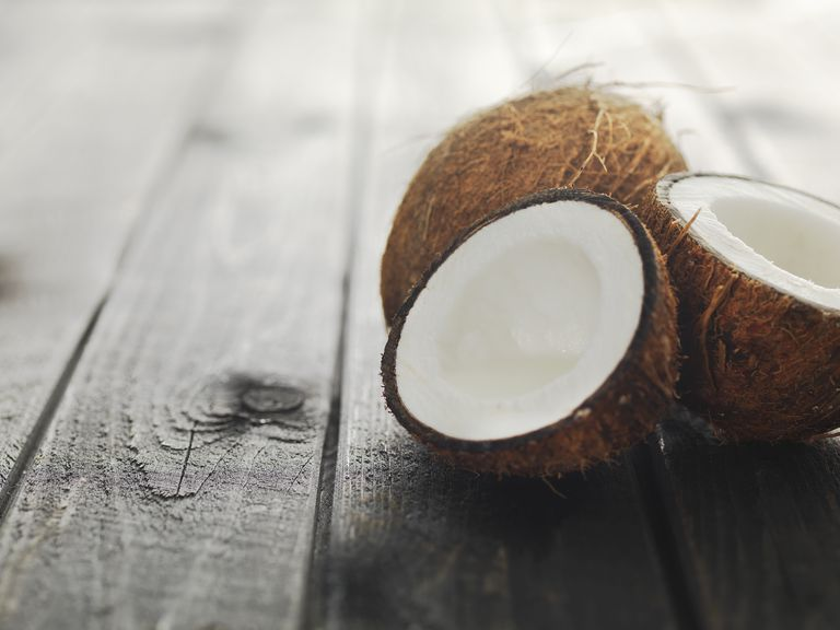 Fresh fruit on raw wood shot with shallow depth of field in daylight