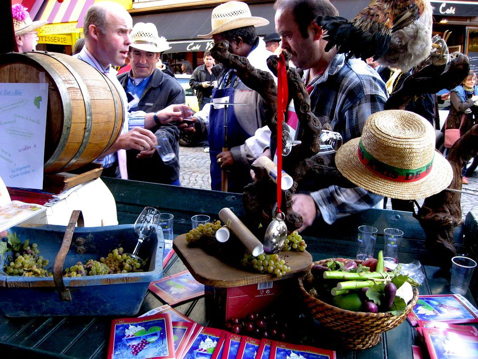 The 2006 edition of the Vendanges de Montmartre in Paris.