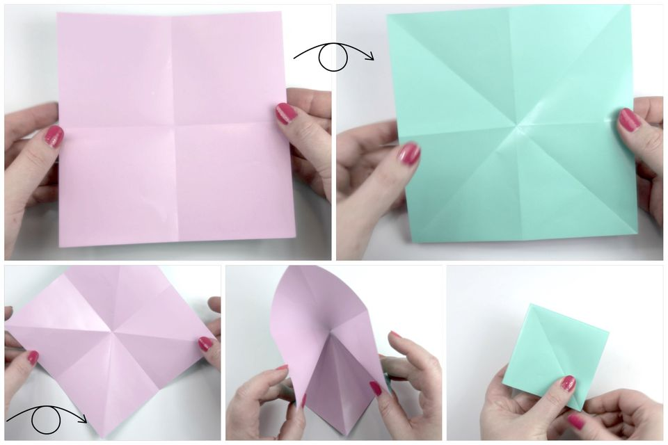 Steps to make origami flower image collections flower decoration ideas how to make an easy origami flower easy origami flower instructions step 1 mightylinksfo image collections mightylinksfo