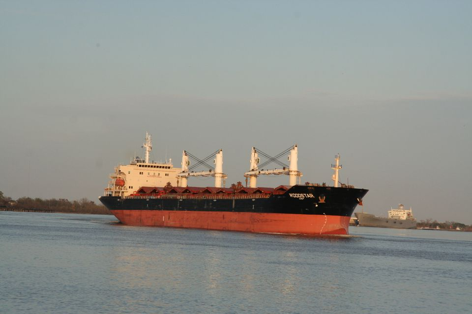 A Freighter on the Mississippi