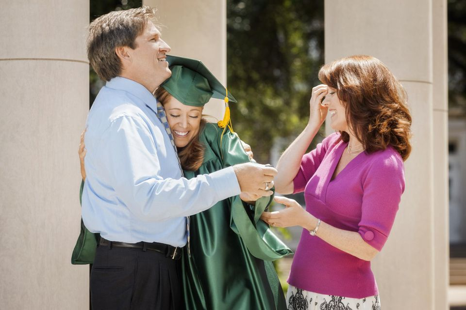 Graduate with her family