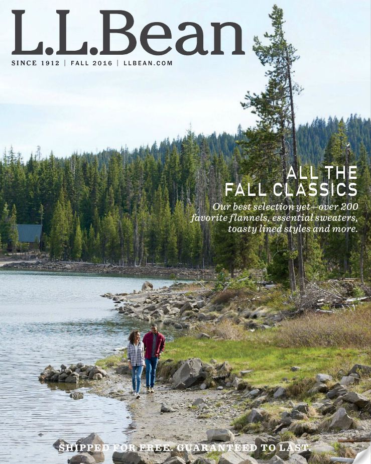 The cover of the latest L.L. Bean catalog