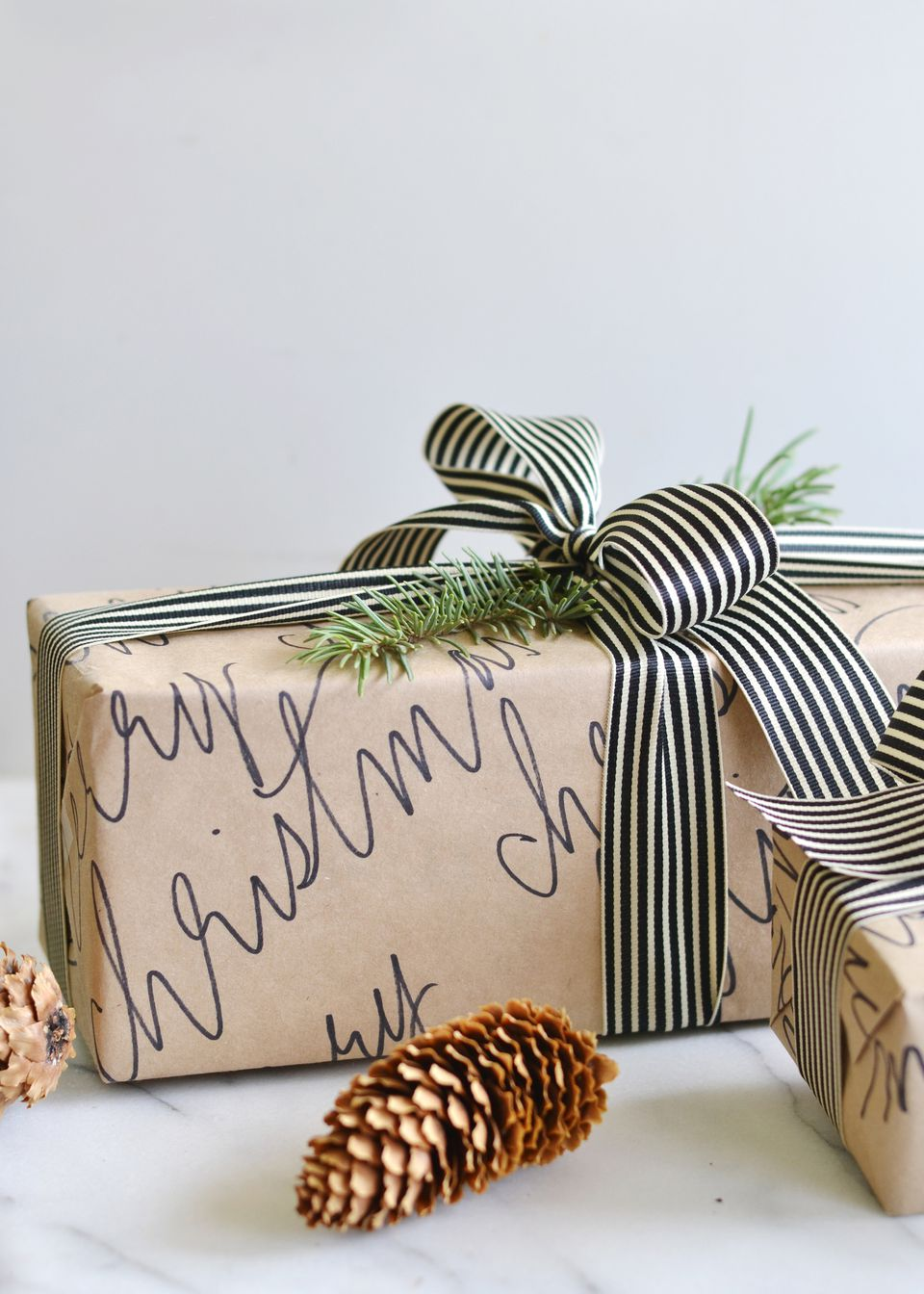 DIY Calligraphy Wrapping Paper