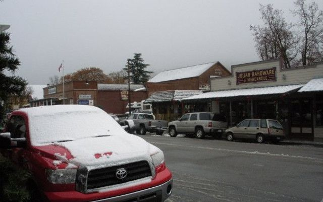 It's true -- you might find snow in Julian, just an hour from San Diego.
