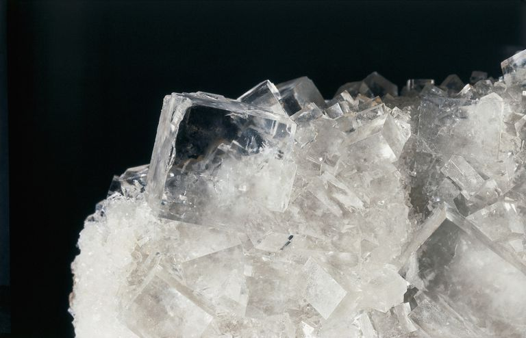 Close-up of rock salt