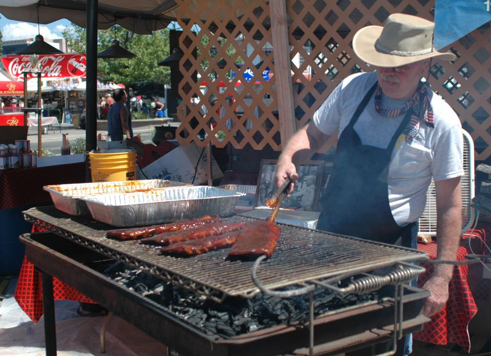 Rib cooking at Best in the West Nugget Rib Cook-Off in Sparks, Nevada