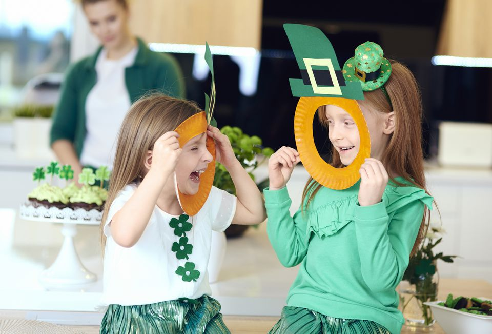 Cheerful irish girl enjoying at home