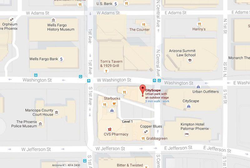 Map to CityScape Phoenix