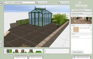 Screenshot of a garden plan designed using Marshalls Garden Visualiser