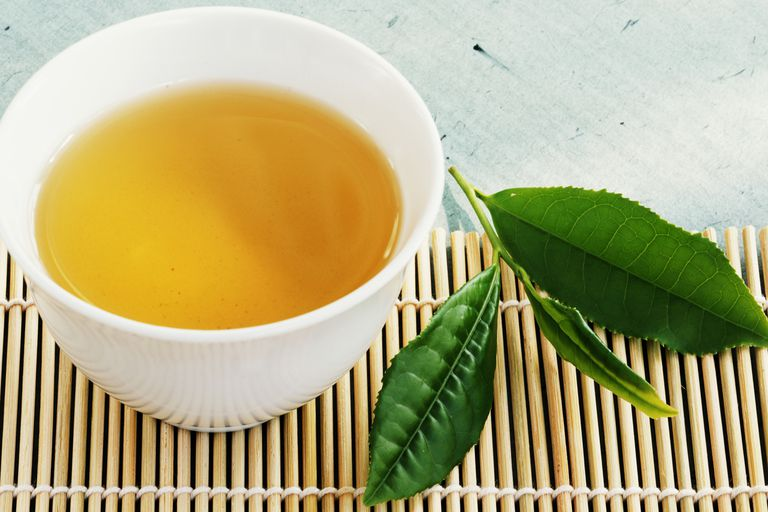 A mug of green tea.