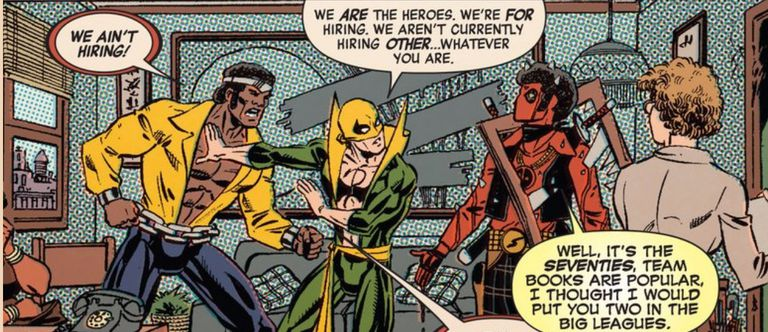 Deadpool, Luke Cage, and Iron Fist by Scott Koblish and Val Staples