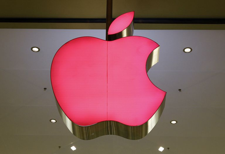 The Apple logo is accounted for in the capital accounts.