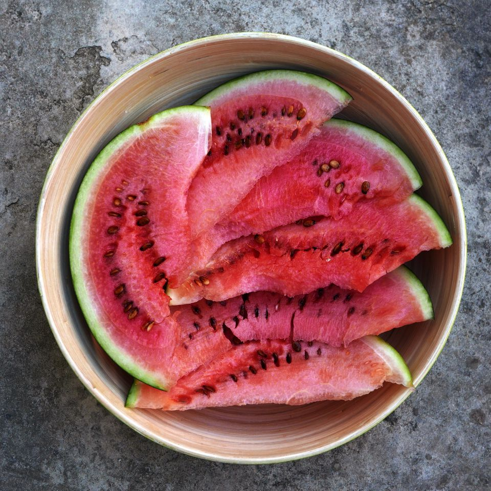 watermelon in bowl