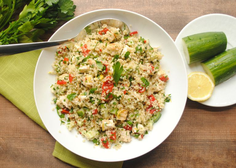 Quinoa Tabouli with Lemon-Cumin-Cayenne Dressing