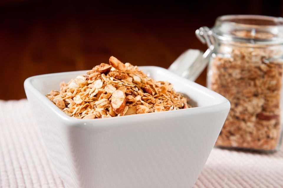 Honey Almond Granola with Shredded Coconut