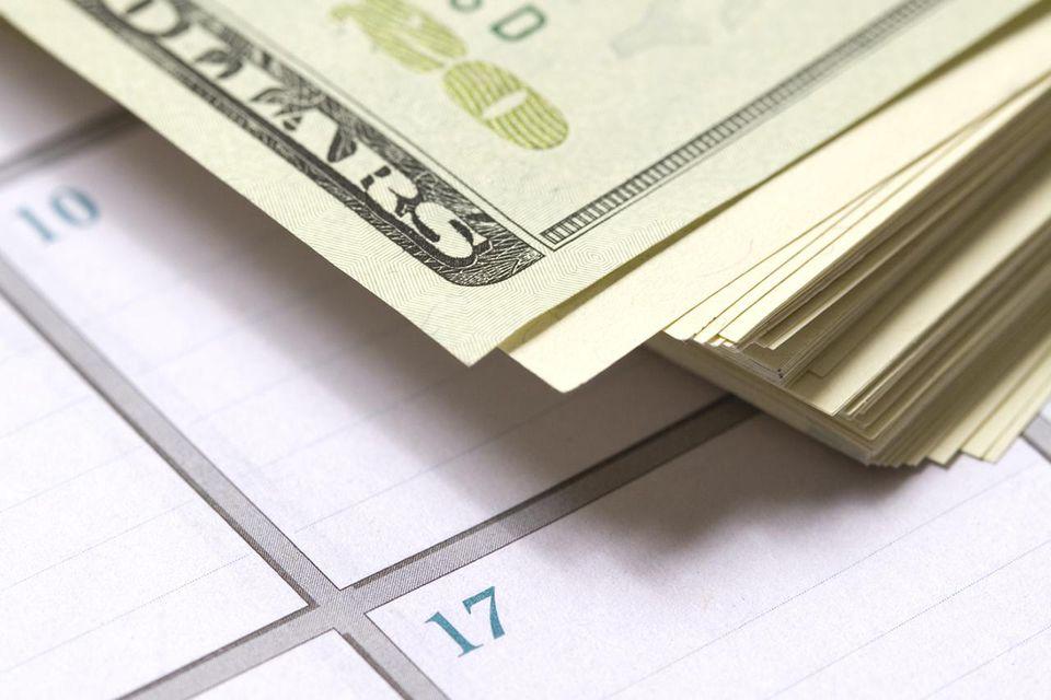 Money and calendar