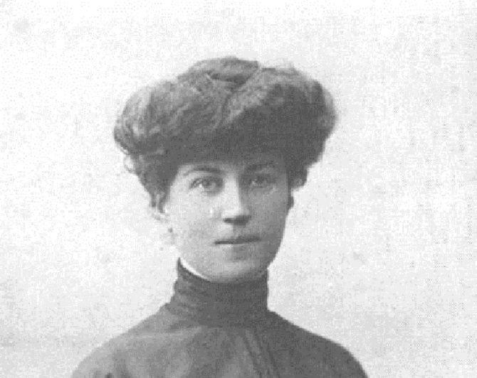 Retrato de Alexandra Kollontai.