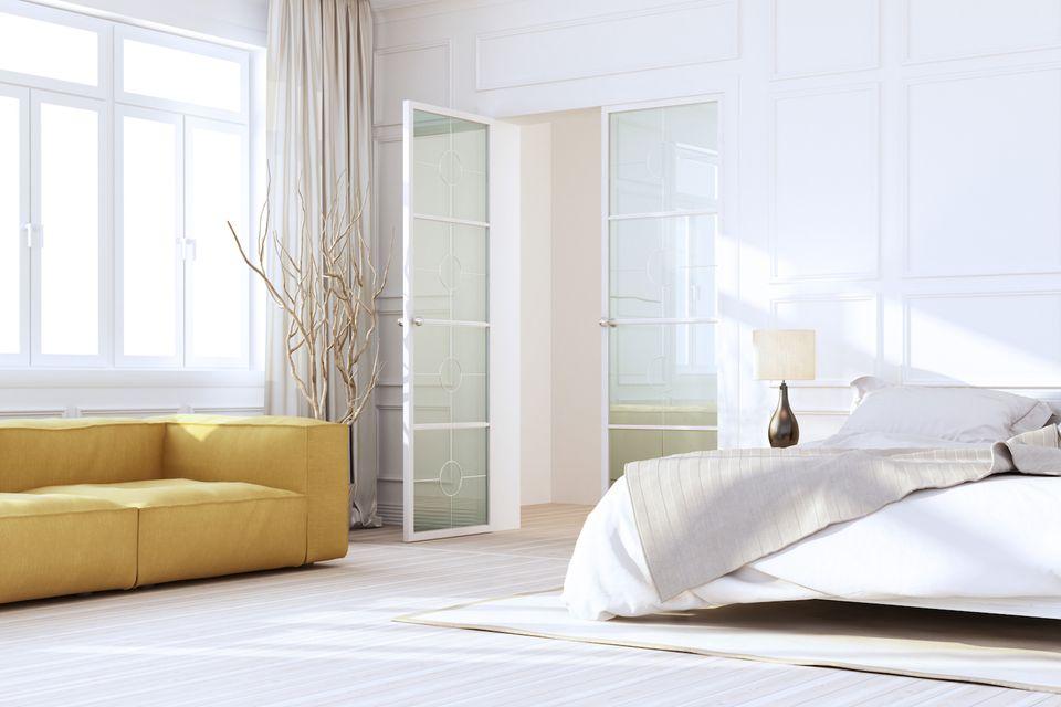 Neutral minimal bedroom