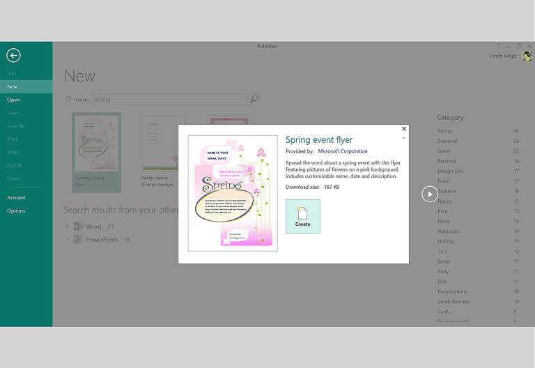 Find free spring themed templates for microsoft office for Event program template publisher