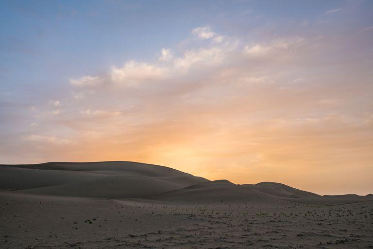 The Taklimakan Desert scenery of Xinjiang