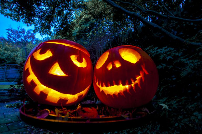 Jack O'Lanterns in the Night