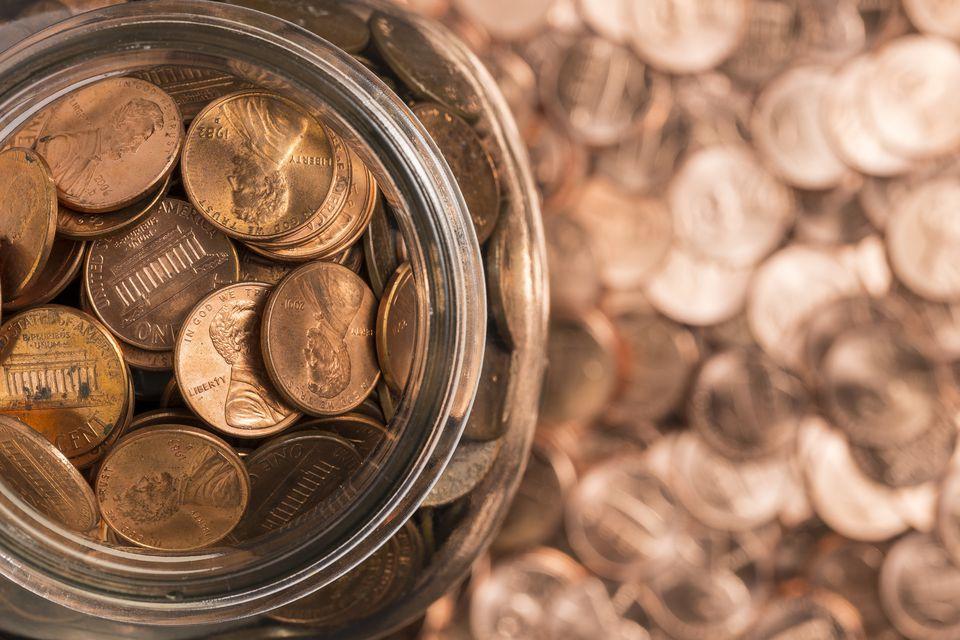 Jar full of pennies