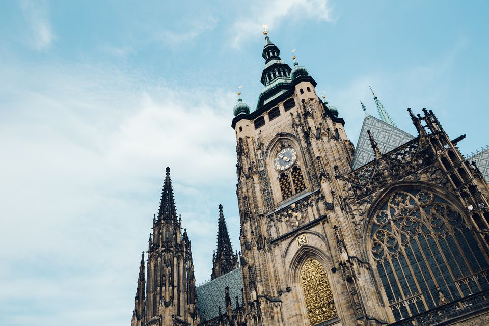 St. Vitus Cathedral at Prague Castle in Czech Republic