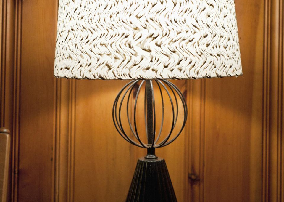 Vintage Table Lamp and Shade