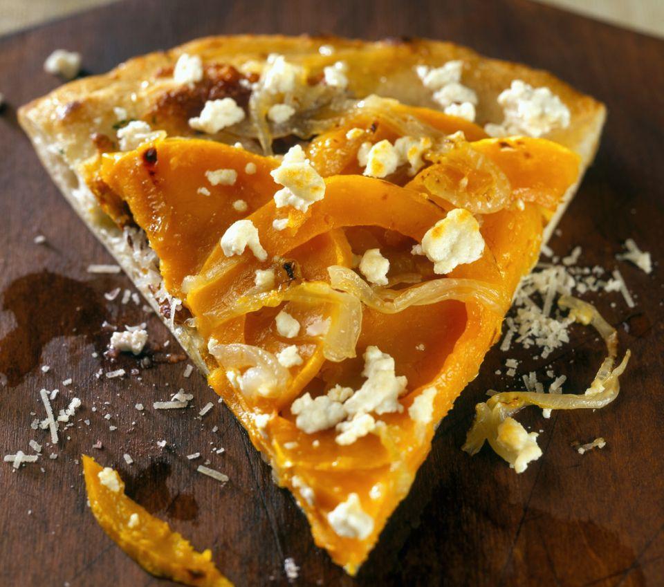 Vegetarian pumpkin pizza