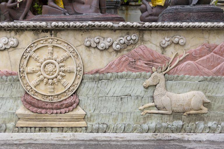 Dharma Wheel and Deer