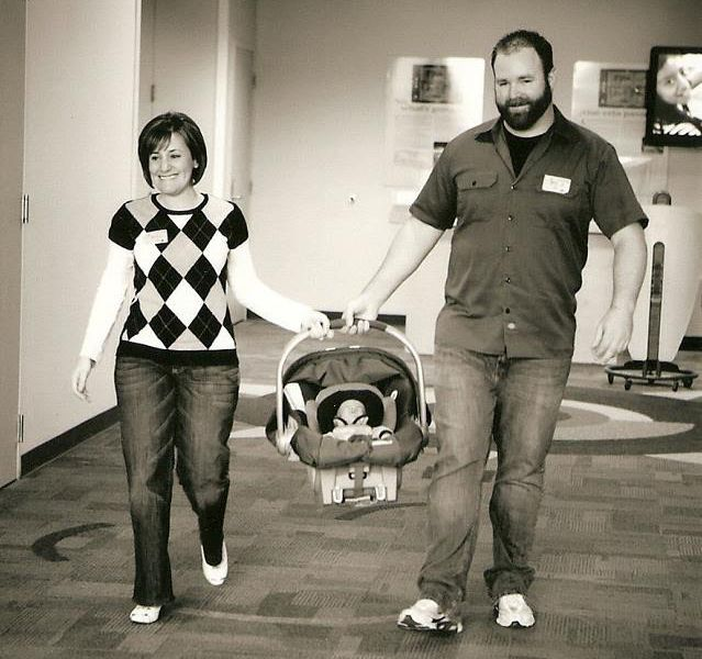 Mother and Father Taking preemie home