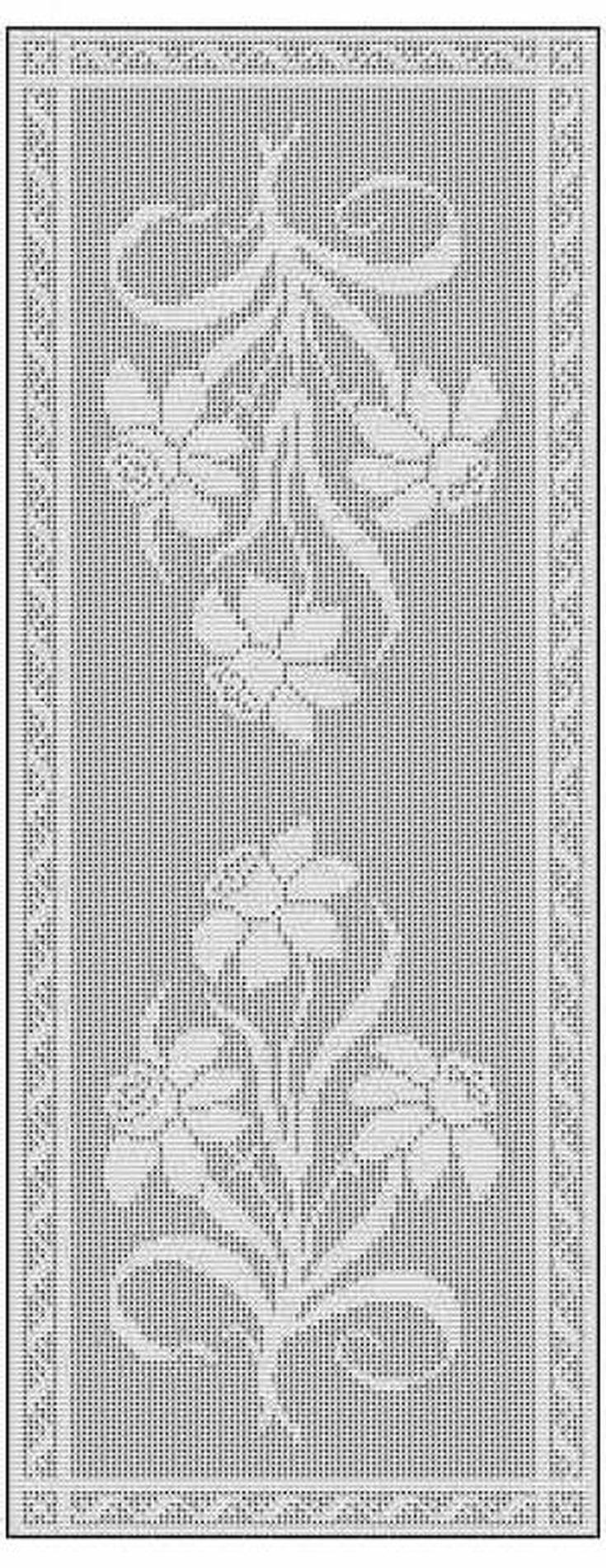 Learn the basics of filet crochet filet crochet table runner free chart pattern ccuart Images