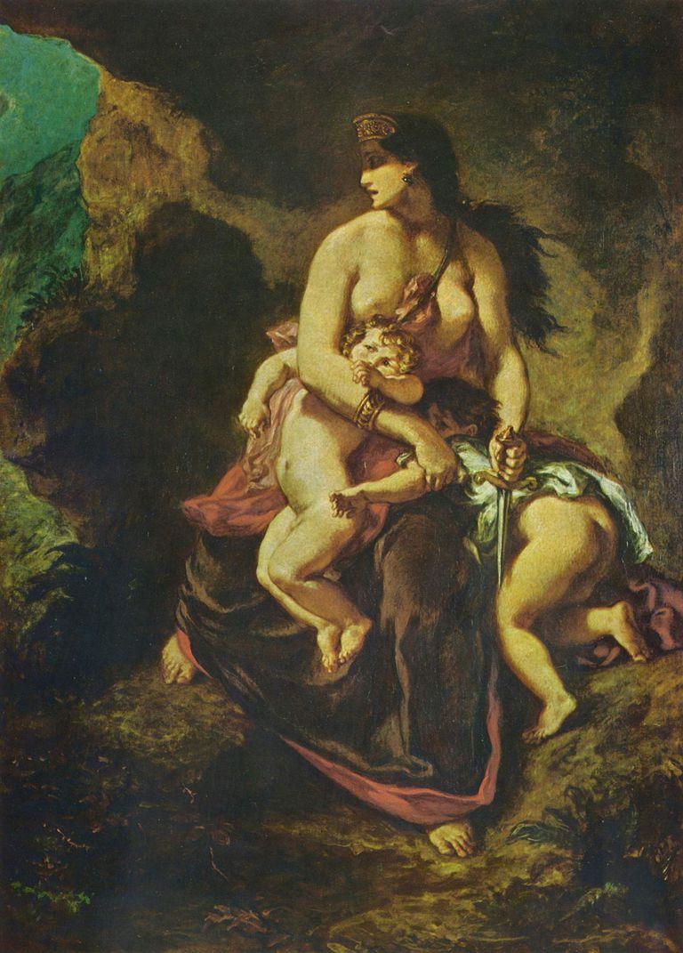 Medea by Eugène Ferdinand Victor Delacroix (1862