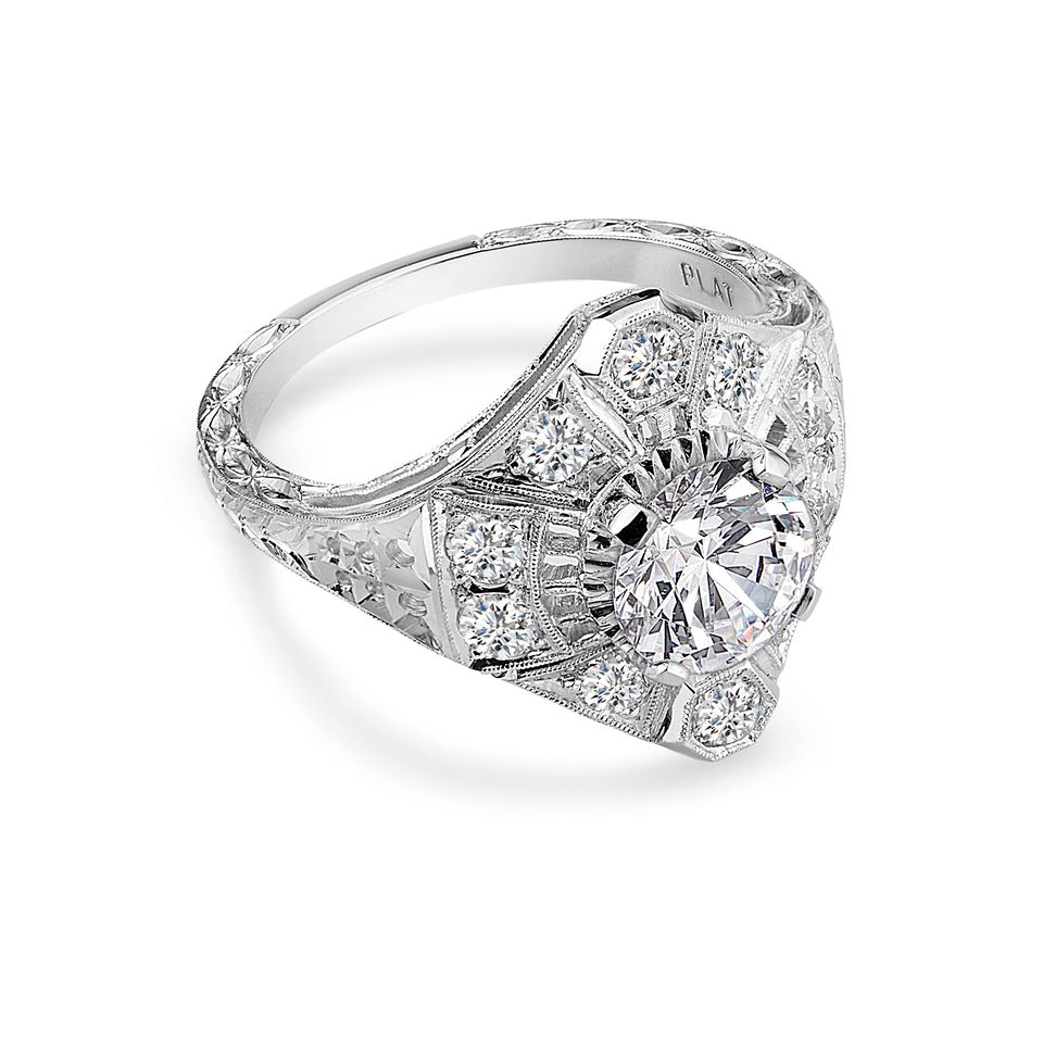 Whitehouse Brothers platinum and diamond ring.