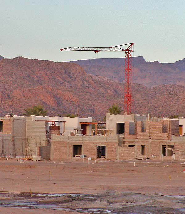 Construction site in Loreto Bay, Mexico