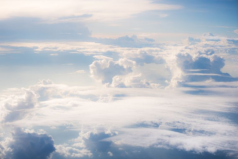 Heavenly scene above cloud level