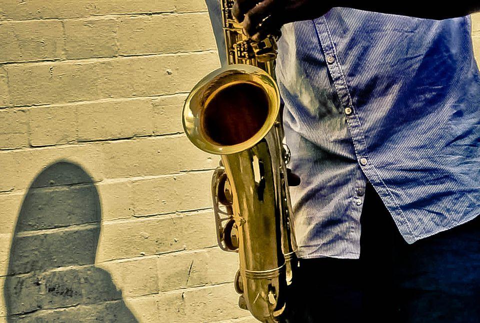 A jazz saxophone player.