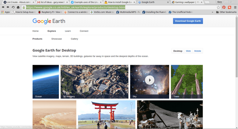 Google Earth Website