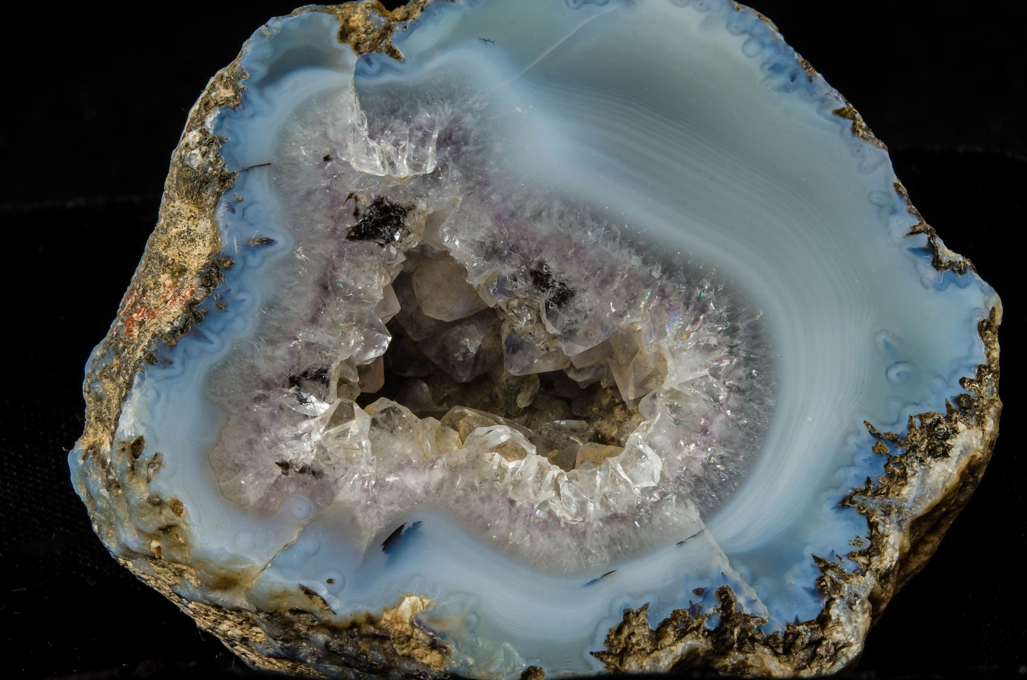 Spiritual and healing properties of coral close up of a geode buycottarizona