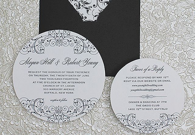 25 free printable wedding invitations round printable wedding invitation junglespirit Gallery