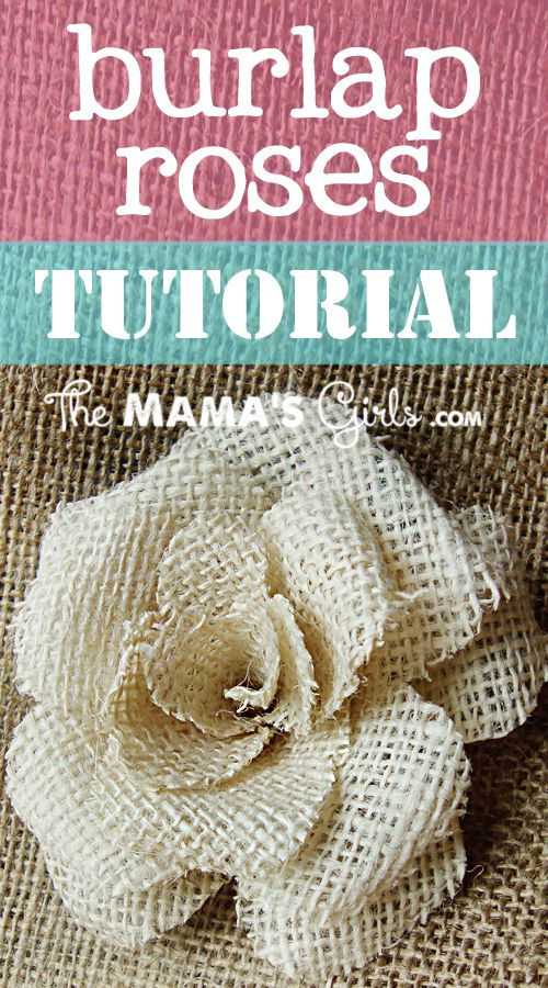 Diy flower tutorial roundup for Burlap flower template